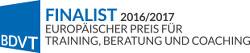 BDVT Finalist 2016/2017 Europäischer Preis für Training, Beratung und Coaching