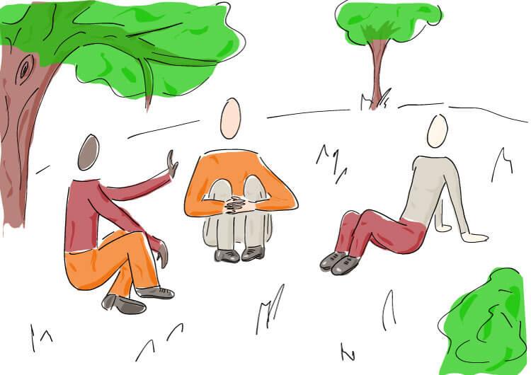 Neues wagen, um eingekrustete Meetinggewohnheiten aufzubrechen, z.B. an anderen Orten zusammenkommen